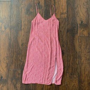 Abercrombie Linen Midi Dress - Strawberry Red (M)